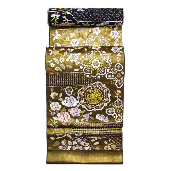 精緻縫い 祈繍工芸 汕頭(スワトウ)蘇州刺繍 レース刺繍 袋帯 fo2914【smtb-k】【w1】