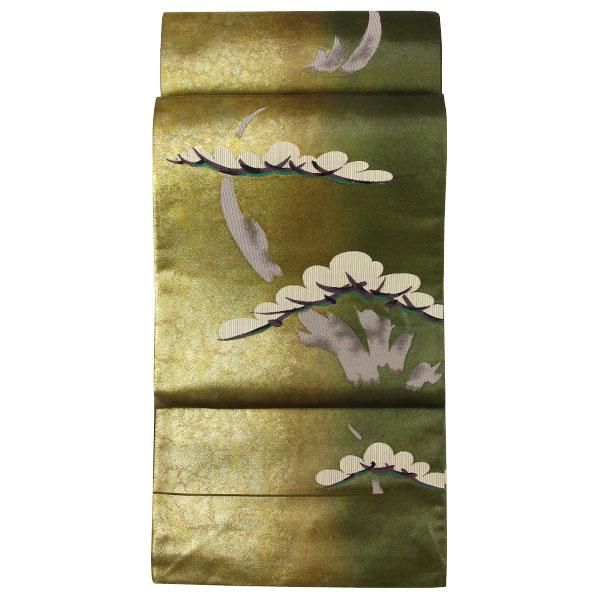 西陣 二色分け 焼箔「松模様」袋帯 フォーマル用に fo3071【smtb-k】【w1】【後払い決済不可】