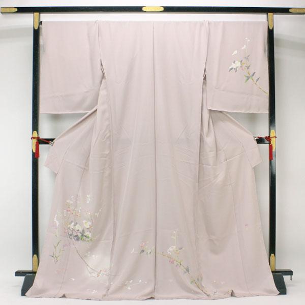 【袷のお仕立て付き】京加賀 友禅 松本健一 訪問着 丹後ちりめん 日本の絹 花意匠 hm1294【あすかや】