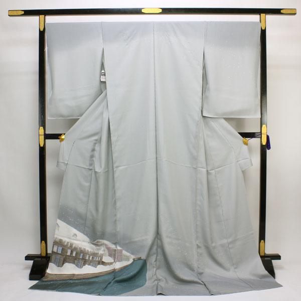 【袷のお仕立て付き】お洒落きもの 丹後ちりめん 日本の絹 本手加工 訪問着 hm1476 【smtb-k】【w1】【後払い決済不可】