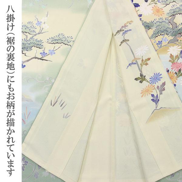 【袷のお仕立て付き】◆本加賀友禅◆ 白坂 幸蔵 作 「花車茶や辻」 浜ちりめん 訪問着 hm1761【smtb-k】【w1】【後払い決済不可】