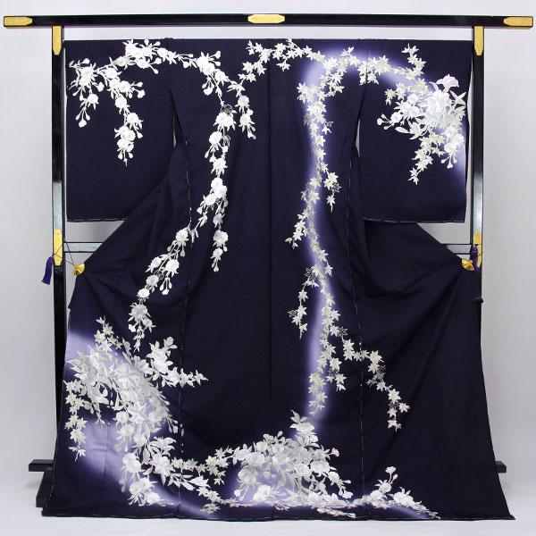 特選 刺繍 訪問着「桜の花」hm2046 【smtb-k】【w1】【後払い決済不可】