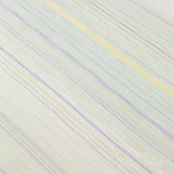 【袷のお仕立て付き】伝統工芸作家 七代目 吉澤与市 綾花織 紬 着尺 t1975【smtb-k】【w1】【後払い決済不可】