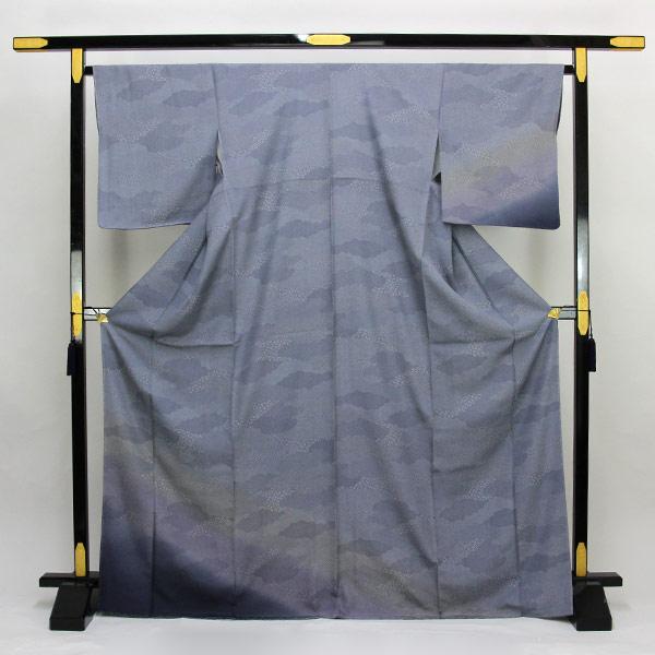 【お仕立て上がり】正絹胴裏 新品 仕立済 雲取り ぼかし 訪問着 Lサイズ 青色系 pt3055 【smtb-k】【w1】【後払い決済不可】