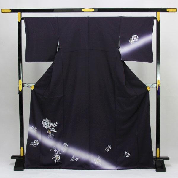 【お仕立て上がり】正絹胴裏 新品 仕立済 刺繍 訪問着 Lサイズ 紫色系 結婚式 お茶席 pt3636【smtb-k】【w1】【後払い決済不可】