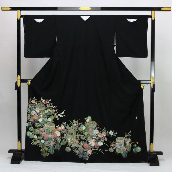 【お仕立て上がり】正絹胴裏 手縫い仕立て 黒留袖 Lサイズ 落款 pt2210【smtb-k】【w1】【後払い決済不可】