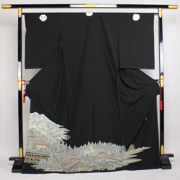 【袷のお仕立て付き】◆本加賀友禅◆ 伝統工芸品 栂野 朗 作 黒留袖 hm1114【smtb-k】【w1】【後払い決済不可】