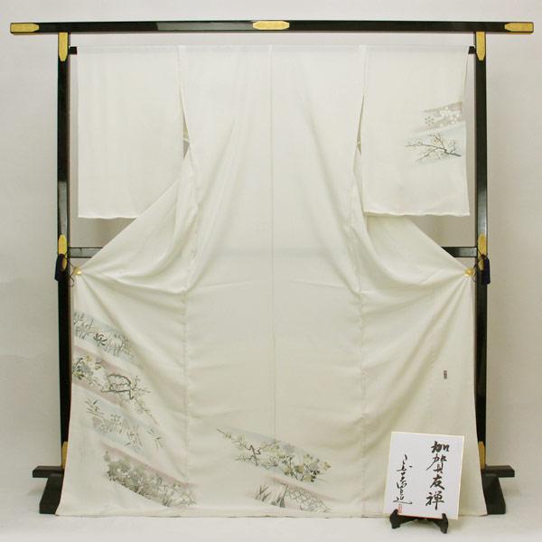 ◆本加賀友禅◆ 浜ちりめん 日本の絹印 訪問着 作家 宮野勇造 「琳派の響き」 hm1952【smtb-k】【w1】【後払い決済不可】