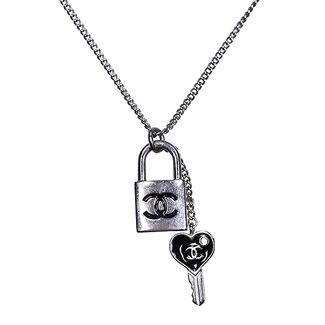 Ginza xiaoma rakuten global market jewelry chanel jewelry chanel key necklace pendant black x silver plating necklace accessories reduction in price mozeypictures Choice Image