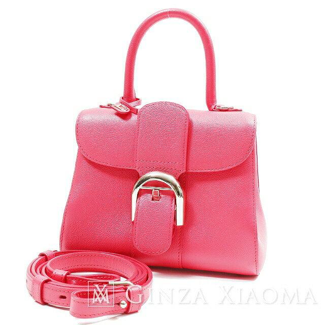 【未使用】 DELVAUX デルヴォー ブリヨン ミニ レザー ローズキャンディ ピンク ハンドバッグ 2Way ショルダー