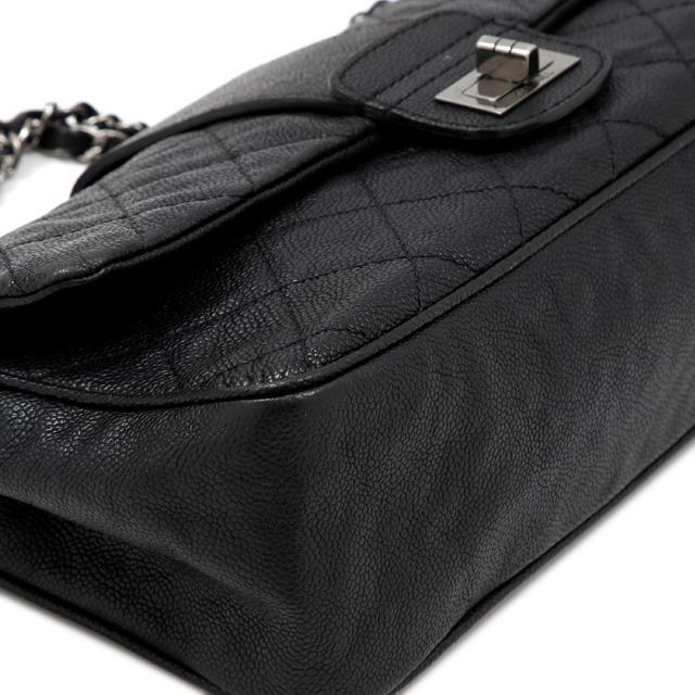8e50cdb5629a3e ... CHANEL Chanel 2.55 line chain shoulder caviar skin vintage black  shoulder bag ...