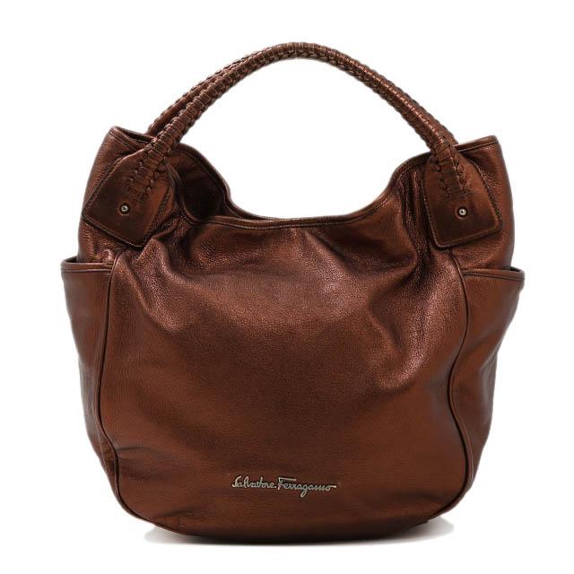 d1096d692ee3 Salvatore Ferragamo Salvatore Ferragamo shoulder bag leather bronze  shoulder bag shawl