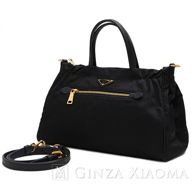 67100604dacb GINZA XIAOMA: PRADA Prada nylon X leather 2WAY shoulder bag 1BA843 ...