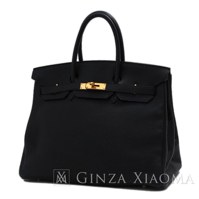 【中古】HERMES エルメス バーキン 35 トリヨン ブラック ゴールド金具 □I刻印 内縫い 黒 ハンドバッグ