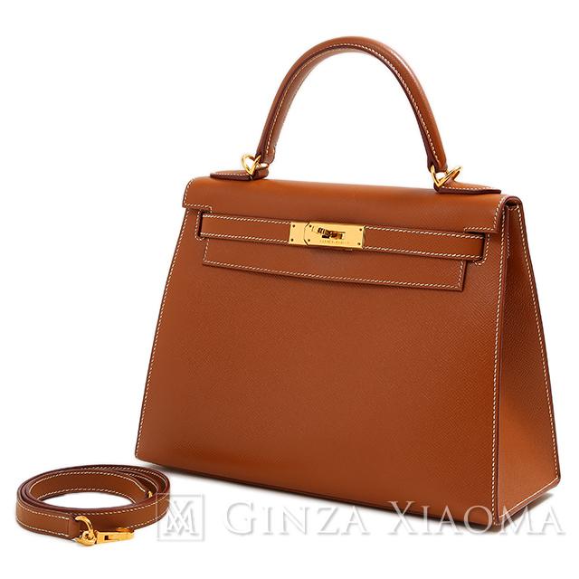 【中古】HERMES エルメス ケリー 28 外縫い クシュベル ゴールド 37 ゴールド金具 □D刻印 ハンドバッグ