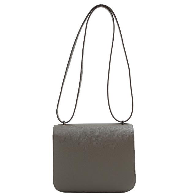 898e364454d5 Auth HERMES Constance 3 mini-19 Epsom Etain 8F silver metal fittings C  carved seal shoulder bag