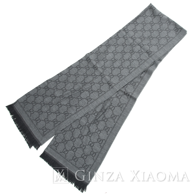 GUCCI Gucci GG jacquard stall wool Grace calf scarf reduction in price mns