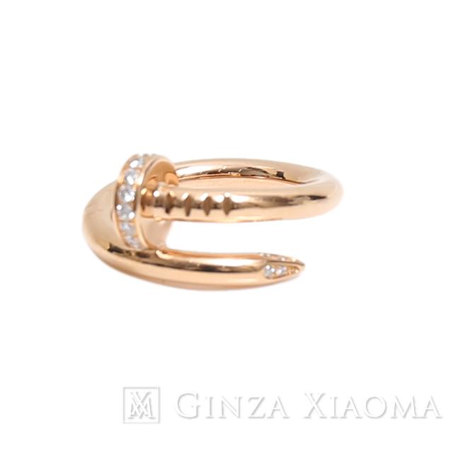 【美品】CARTIER カルティエ 指輪 リング ジュストアンクル ダイヤモンド #48 日本サイズ約8号 中古 レディース 人気