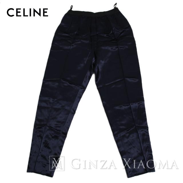 【未使用】CELINE セリーヌ パンツ レーヨン ネイビー サイズ38 メンズ 中古