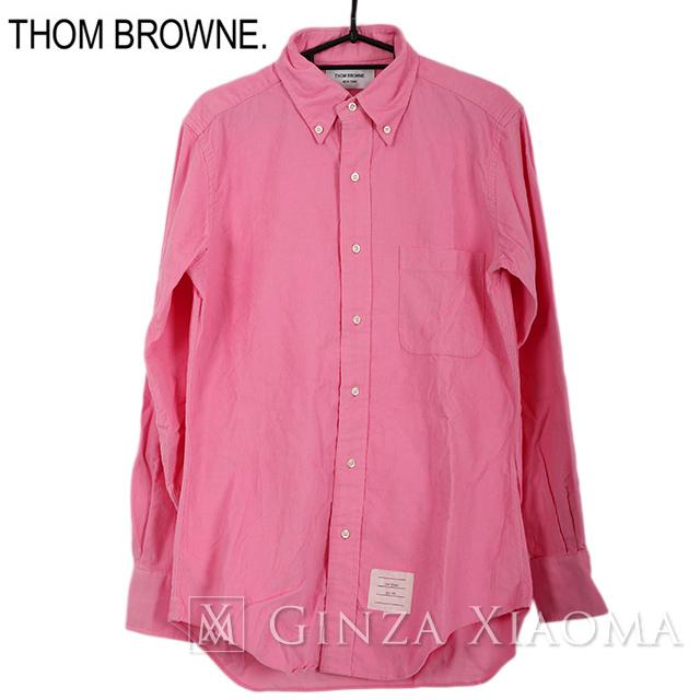 【極美品】Thom Browne トムブラウン トップス 長袖 シャツ コットン ピンク シンプル 中古