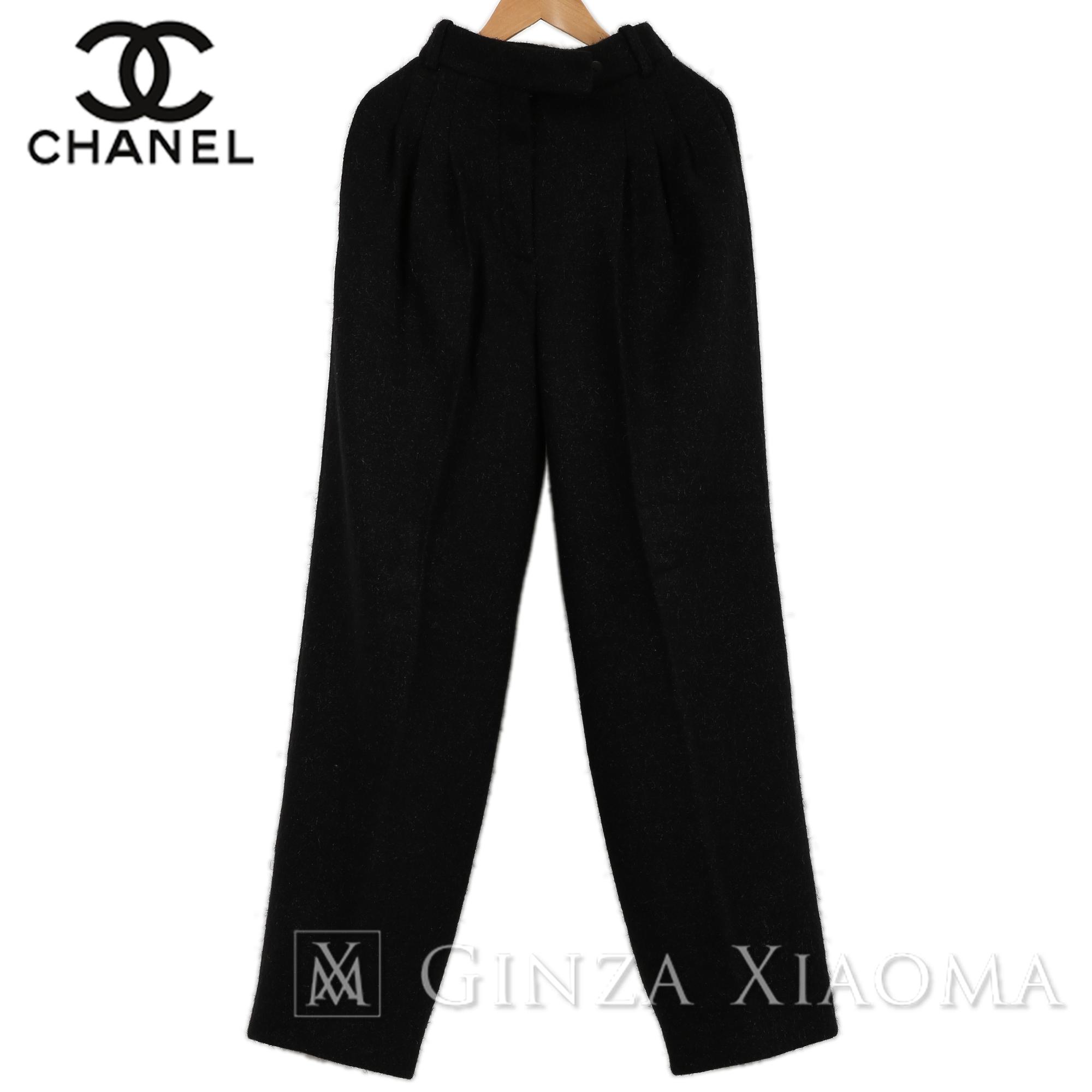 【未使用】CHANEL シャネル レディース パンツ スラックス ウール ブラック 黒 サイズ34 中古