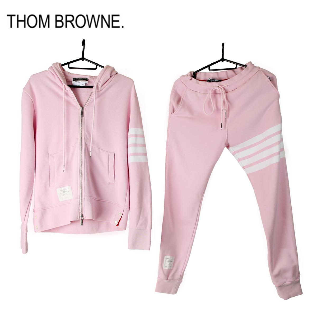 【美品】Thom Browne トムブラウン トップス セットアップパーカー コットン ピンク 中古