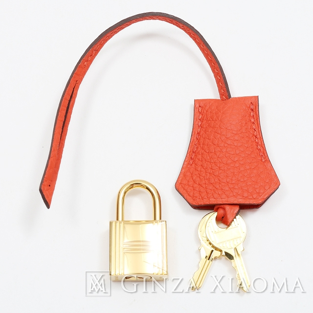 73a325f5c3a7 【新品】 グッチ バッグ HERMES エルメス カデナ プラダ バッグ 鍵 クロシェット バーキン ラニエール セット トゴ オレンジポピー バッグチャーム:GINZA  XIAOMA ...