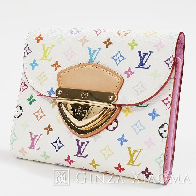 【中古】 LOUIS VUITTON ルイヴィトン マルチカラー ポルトフォイユ コアラ M58081 折財布