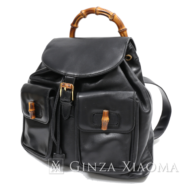 cd7dbff772e7 GINZA XIAOMA: Auth Gucci gucci Bamboo Handle Backpack Bag Leather ...