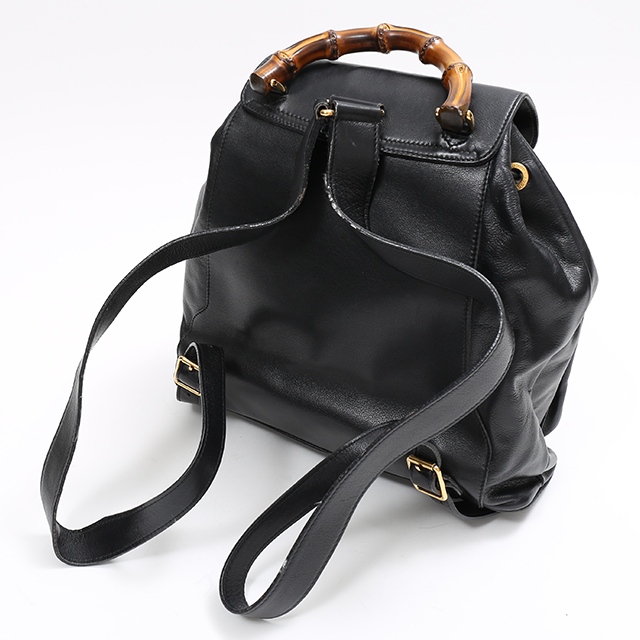 d8fb9445385 GINZA XIAOMA  Auth Gucci gucci Bamboo Handle Backpack Bag Leather ...