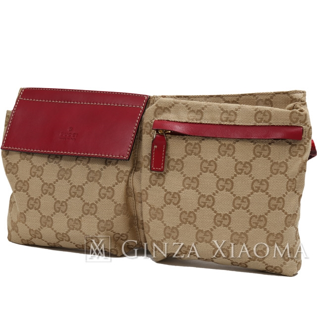 c53355a4e2f784 GINZA XIAOMA: Auth GUCCI Gucci Waist Belt Bum Bag GG Canvas/leather ...