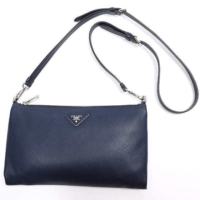 5d6f9713057c ... promo code for take prada prada leather shoulder bag navy clutch bag  shoulder bag slant mns