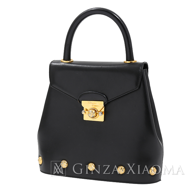 Salvatore Ferragamo Handbag Leather Black