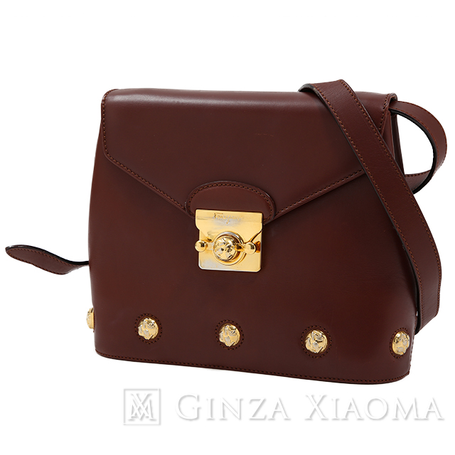 d2ec21161b Salvatore Ferragamo Salvatore Ferragamo leather shoulder bag Bordeaux brown  shoulder bag