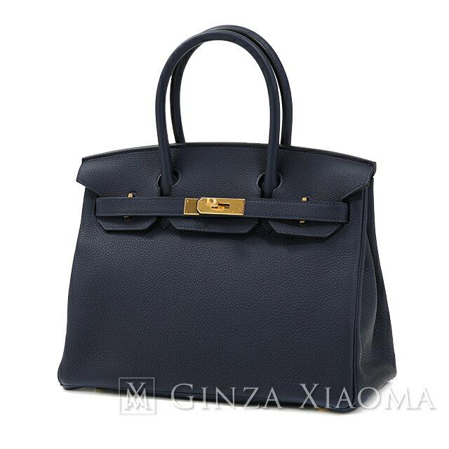 【新品】 HERMES エルメス バーキン30 トゴ ブルーインディゴ ゴールド金具 C刻印 ハンドバッグ