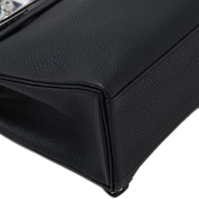 c686e849e4bd GINZA XIAOMA  Auth Hermes kelly ado PM Black Togo silver Hardware ...