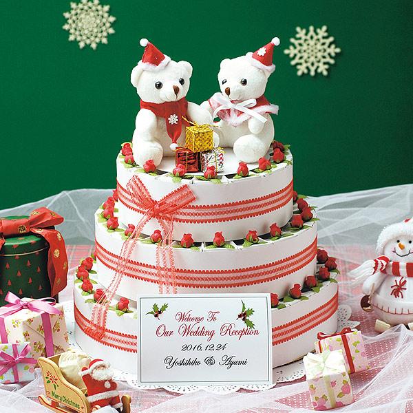 クリスマスのケーキ型プチギフト【ウインターケーキ・苺チョコ(60個セット)】【smtb-td】