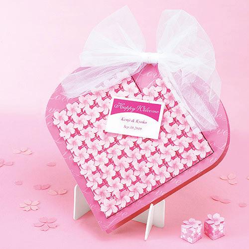プチギフト お菓子 ウェルカムボード代わり ディスプレイ 結婚式 ウェディング二次会 飾れる  【桜ボックス60個セット】