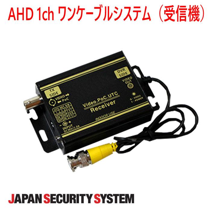 【防犯カメラ周辺機器】AHD 1chワンケーブルシステム(受信機)1021901PF-EB027-AS