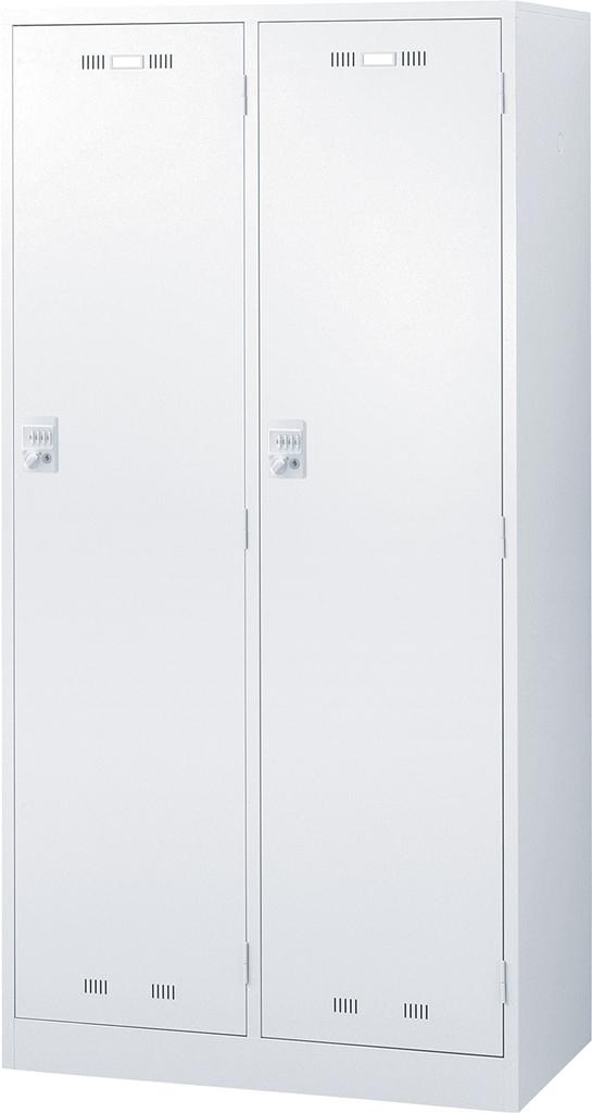 オフィス ロッカー ホワイト SEIKOFAMILY 国産ロッカー 2人用ワイド ダイヤル錠