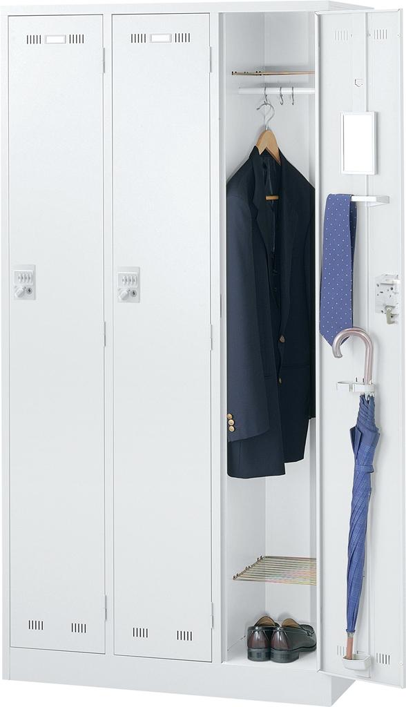 オフィス ロッカー ホワイト SEIKOFAMILY 国産ロッカー 3人用 ダイヤル錠