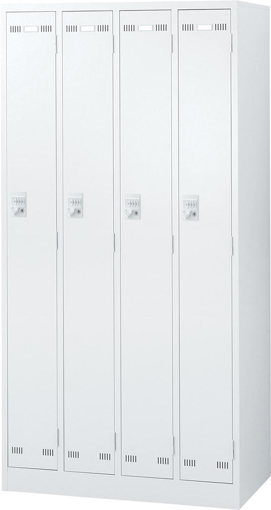 オフィス ロッカー ホワイト SEIKOFAMILY 国産ロッカー 4人用 ダイヤル錠