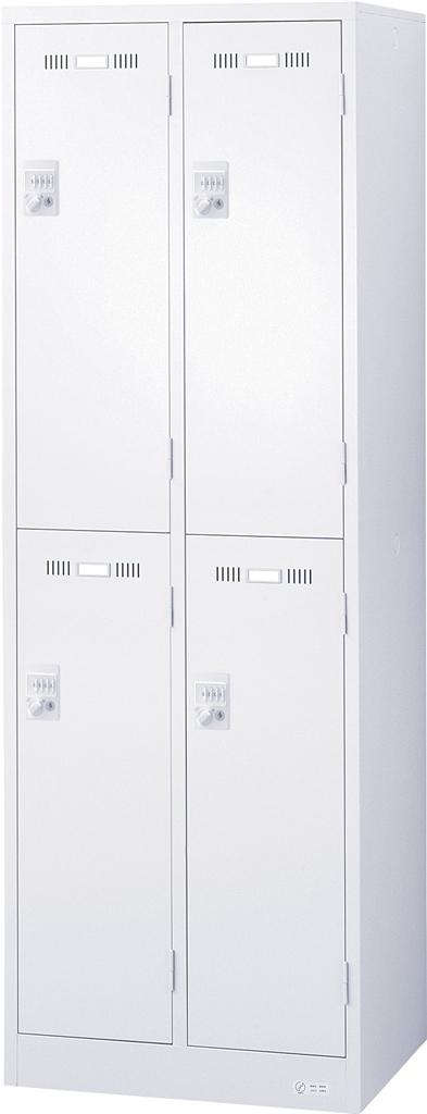 オフィス ロッカー ホワイト SEIKOFAMILY 国産ロッカー 4人用スリム ダイヤル錠
