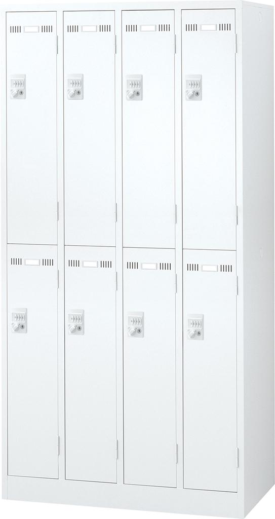 オフィス ロッカー ホワイト SEIKOFAMILY 国産ロッカー 8人用 ダイヤル錠