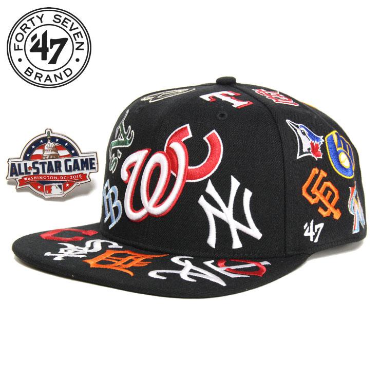 【スーパーSALE 10%OFFクーポン対象商品!】47 Brand フォーティーセブン MLB TEAM UP '47 CAPTAIN BLACK '18 メンズ レディース 春夏 キャップ ブラック FREE