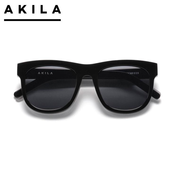 【スーパーSALE 10%OFFクーポン対象商品!】【SALE】AKILA アキラ サングラス AKILA GENESIS A 1802 01 01 BLACK アイウェア 眼鏡 ブラック ONE SIZE