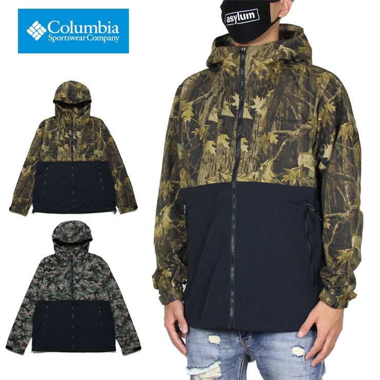 コロンビア ジャケット COLUMBIA マウンテンパーカー ナイロンジャケット オムニシールド アウター 防水 アウトドア メンズ レディース ブランド 大きいサイズ ヘイゼンパターンドジャケット PM3811 カモ M L XL XXL