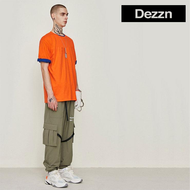 【スーパーSALE 10%OFFクーポン対象商品!】【SALE】DEZZN デジーン パンツ POCKETPANTS TRACK PANTS IN9305S トラックパンツ メンズ レディース カーキ ストリート