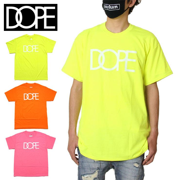 Tシャツ 半袖Tシャツ 営業 DOPE ドープ SALE30%OFF 半袖 メンズ レディース ブランド 買い物 大きいサイズ おしゃれ かっこいい LOGO 19DP-FW100T XL セーフティグリーン M ホットピンク XXL TEE オレンジ CLASSIC L