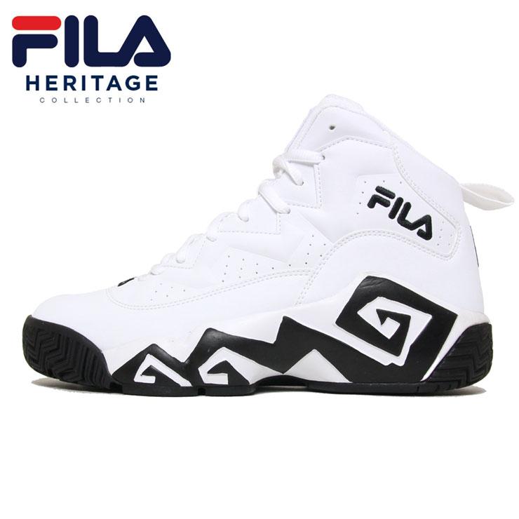 【スーパーSALE 10%OFFクーポン対象商品!】フィラ FILA スニーカー バッシュ バスケット シューズ メンズ レディース ブランド MB FHE102 WHITE ホワイト 26.5cm 27cm 27.5cm 28cm
